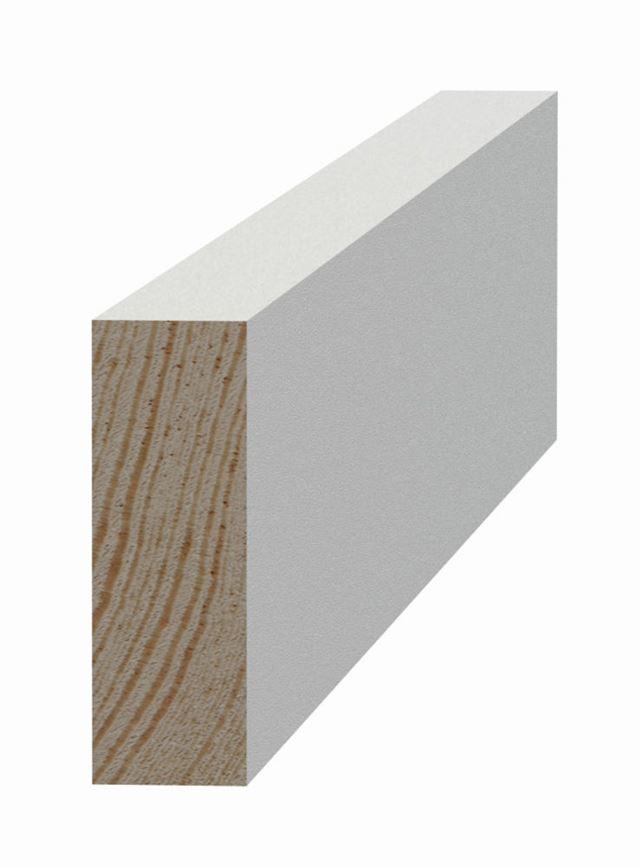 Glattkantlist 15x45x4420 mm furu Glattkantlist hvitmalt furu, SÖDRA INTERIØR S Wood AS