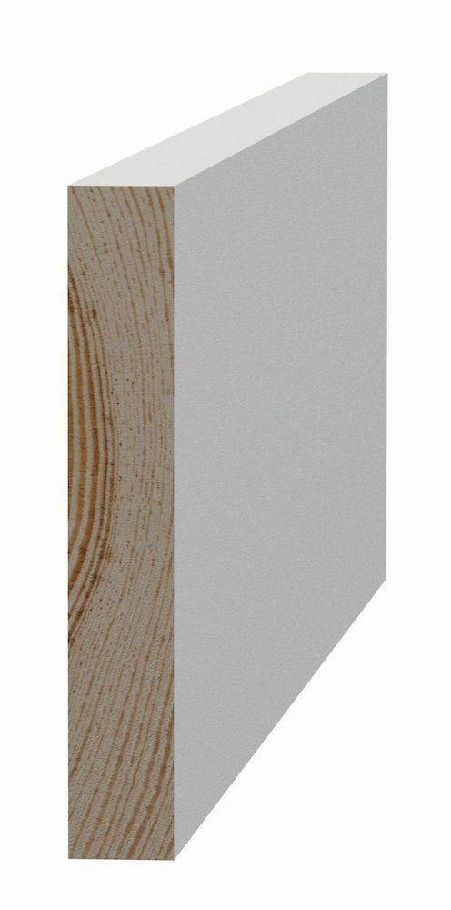 Glattkantlist 15x95x4420 mm furu Glattkantlist hvitmalt furu, SÖDRA INTERIØR S Wood AS
