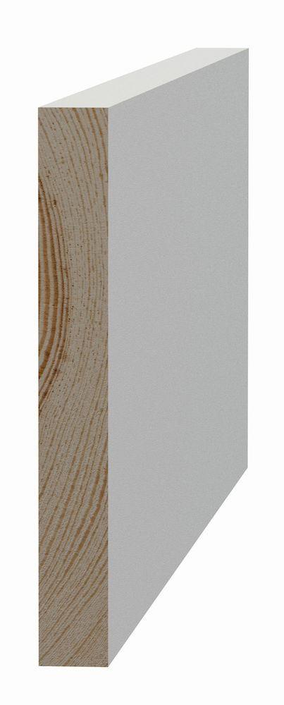 Glattkantlist 15x120x4420 mm furu Glattkantlist hvitmalt furu, SÖDRA INTERIØR S Wood AS