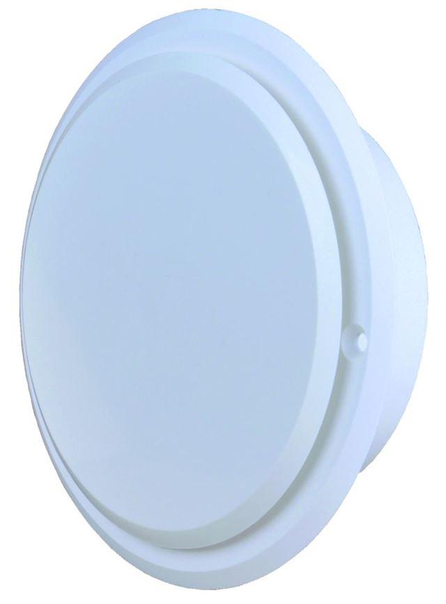 Flexit Tallerkenventil hvit plast rund karm/ramme 6 Tallerkenventil rund, Flexit AS