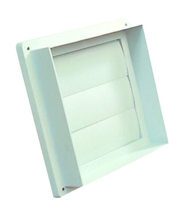 Flexit Lamellventil hvit plast 180x180 mm Lamellventil, Flexit 7001462
