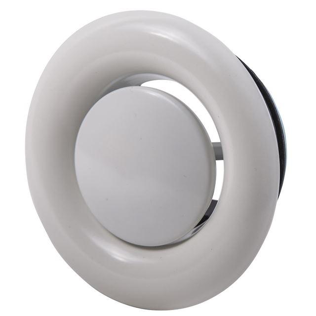 Flexit Avtrekksventil hvit stål Ø 100 mm Avtrekksventil Stål, Flexit AS