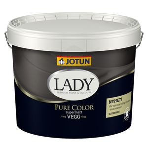 Lady Pure Color veggmaling supermatt hvit 9 liter