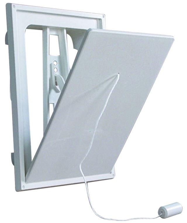 Flexit Klaffventil hvit plast 6x6  klaffventil hvit plast, flexit 7001443