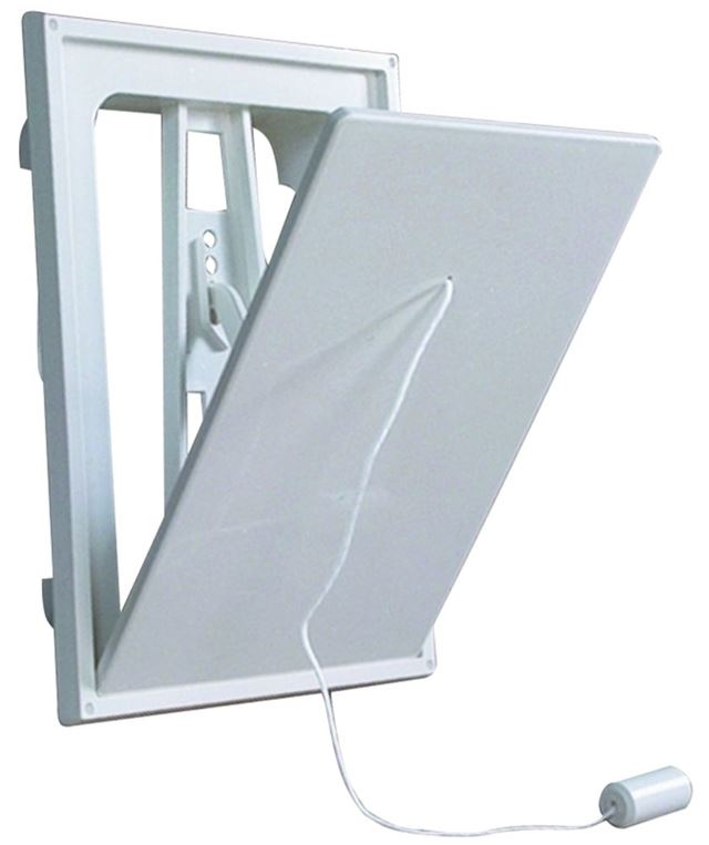 Flexit klaffventil hvit plast 4x6  klaffventil hvit plast, flexit 7001448