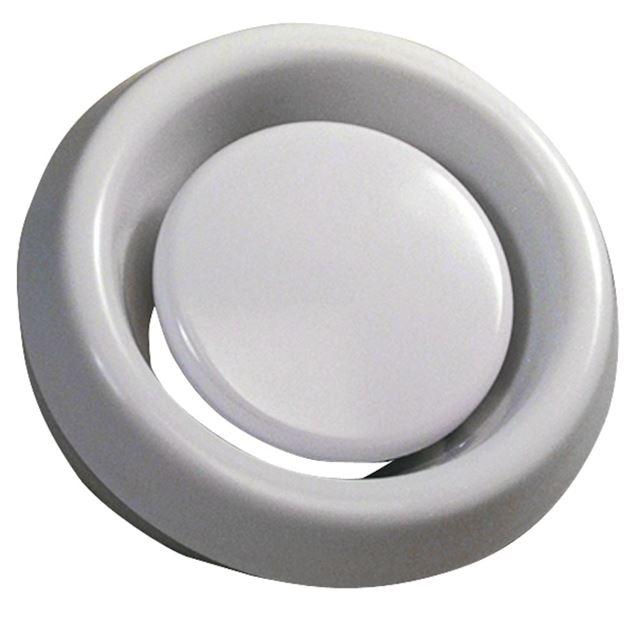 Flexit Avtrekksventil Ø 125 mm Avtrekksventil hvit i plast, Flexit 7001473
