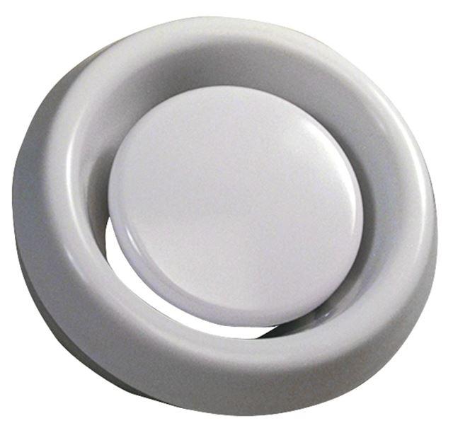 Flexit Avtrekksventil Ø 100 mm Avtrekksventil hvit i plast, Flexit 7140972