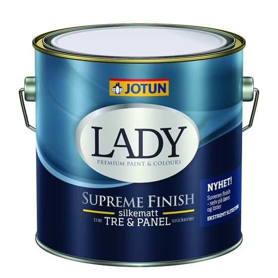 Jotun Lady Supreme Finish 15 hvit 2,7 liter