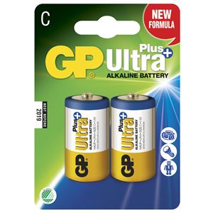 Batteri ultra plus alk c/lr14 gp 14aup-c2 2 stk