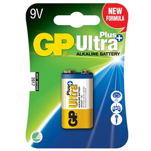 Batteri ultra plus 9 volt alkalisk