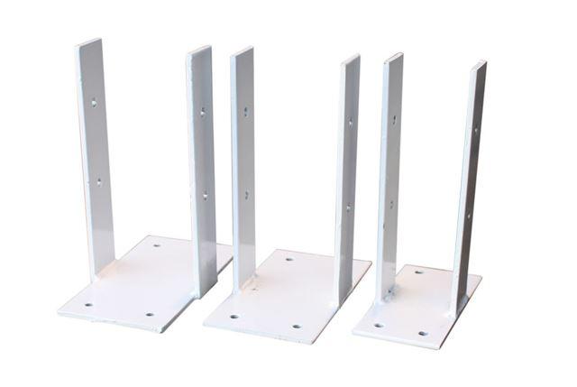 Stolpefot m/plate 90 mm galvanisert stål Stolpefot M/Plate RKC AS