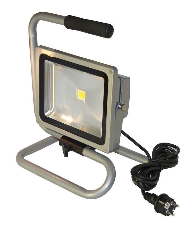 Arbeidslampe led 30w grå med gulvstativ  Arbeidslampe led 30 watt grå gulvstativ med gulvstativ 7394647