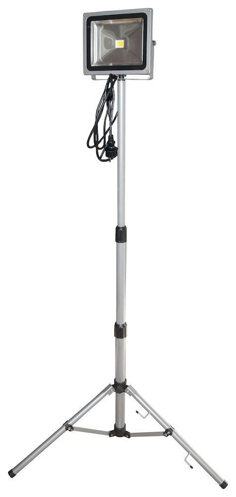 Arbeidslampe led 1x30w grå med teleskopstativ Arbeidslampe led 1x30 watt grå teleskop med teleskopstativ 7394649