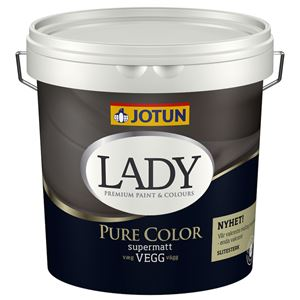 Lady Pure Color veggmaling supermatt 01 hvit 2,7 liter