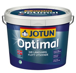 Optimal eksteriørmaling Hvit-base 2,7 liter