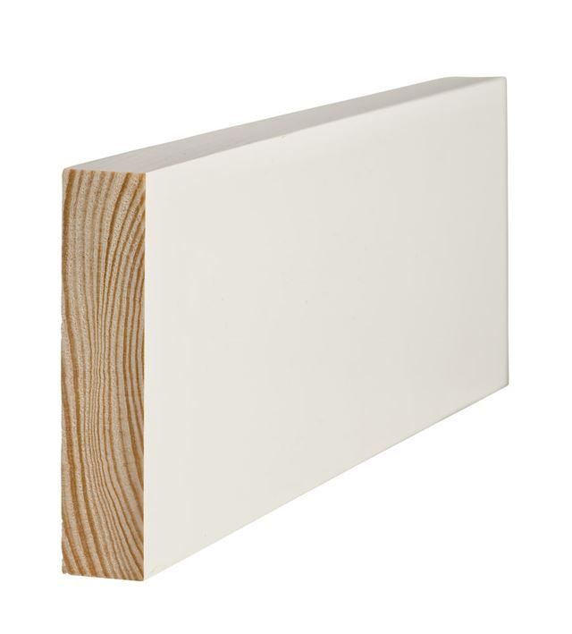 Glattkantlist 21x95 mm hvitmalt furu Glattkant Furu 7230520