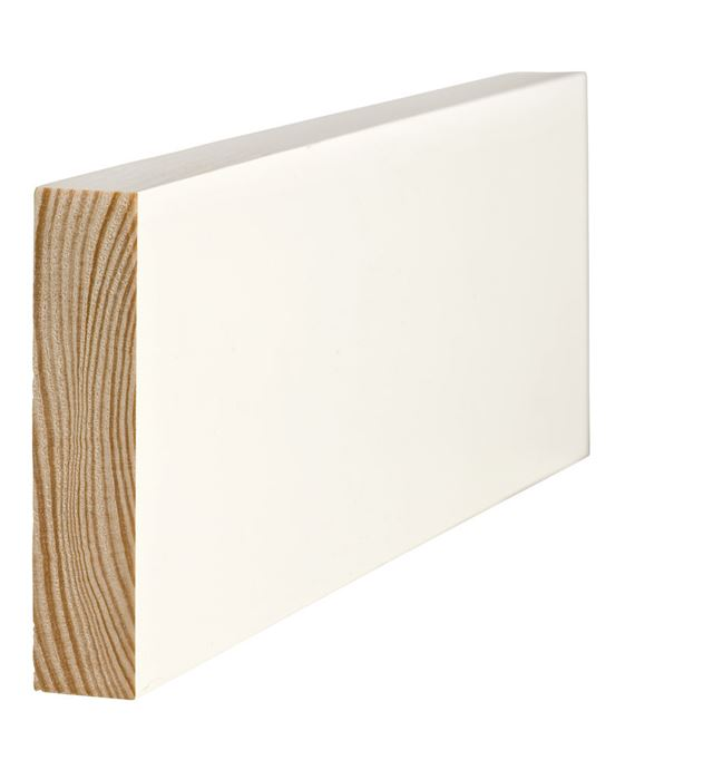 Glattkantlist 21x70 mm hvitmalt furu Glattkant Furu 7236309