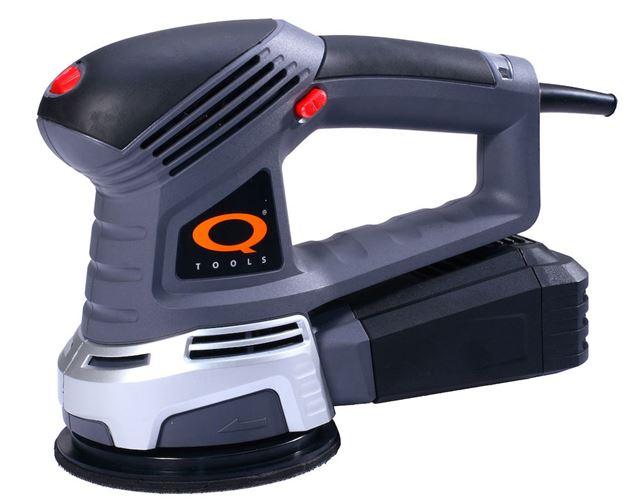 125 mm eksentersliper med støvsamler Eksentersliper 450 watt 125 mm, Q-tools Optimera AS