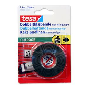 Tape dobbelt 1,5mx19 mm outdoor transparent tesa