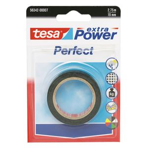 Lerretstape Extra Power sort 2,75 m x 19 mm