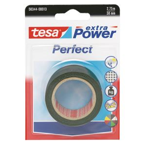 Lerretstape Extra Power sort 2,75 m x 38 mm