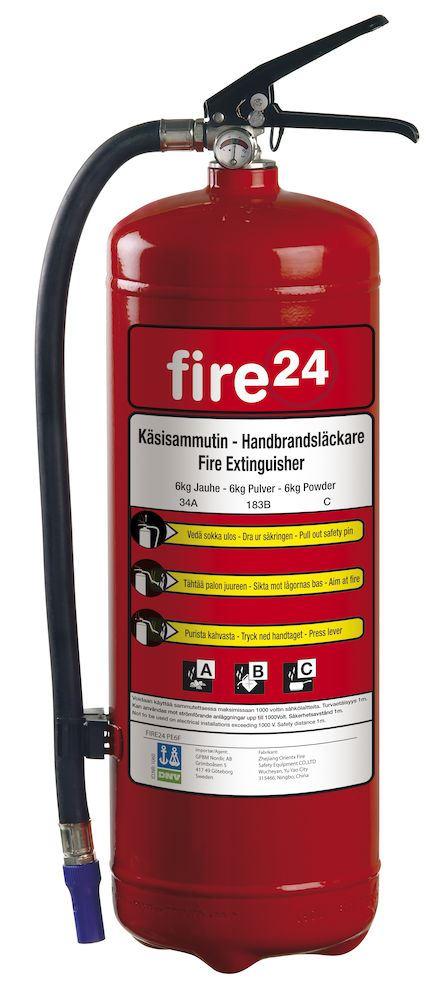 Brannslukker fire24 6kg 34a 2 33b Brannslukker GPBM Nordic AS