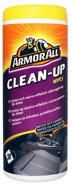 Våtserviett Universal Clean-Up Wipes Armor All pakke a 36 stk