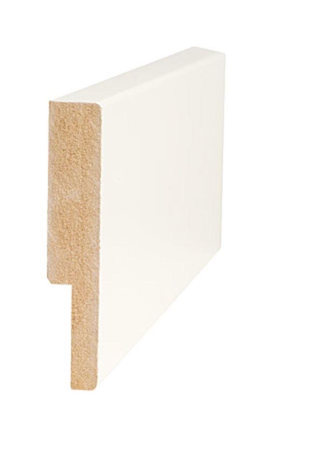 Utforing MDF 18x95x4200 mm hvitmalt foring for Dørsett MDF hvitmalt faste lengder Barkevik Bruk AS