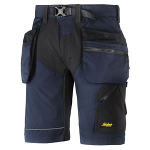 Snickers Flexiwork+ shorts 6904 HP str 56 marineblå/sort