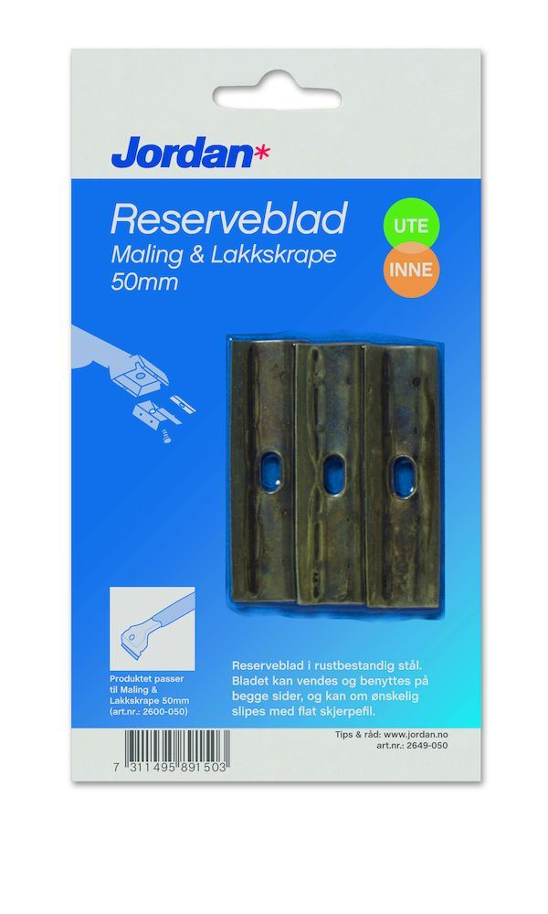 Reserveblad maling-/lakkskrape 50 mm jordan Maling-/Lakkskrape Orkla House Care Norge AS