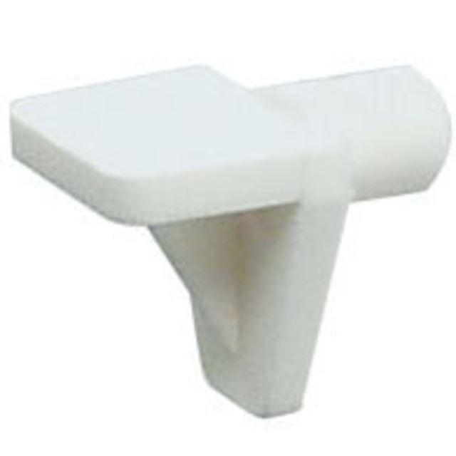 Hyllebærer 5 mm hvit plast 20 stk Hyllebærer plast Peder Nielsen Beslagfabrik AS
