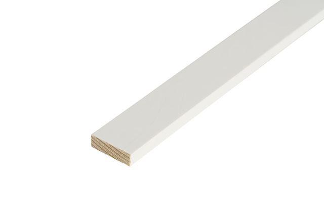 Glattkantlist 6x21x2700 mm hvitmalt furu Glattkant behandlet faste lengder 7369497