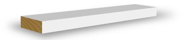 Glattkantlist 12x56x4400 mm hvitmalt furu Glattkantlist hvitmalt, BARKEVIK BRUK AS Combiwood Barkevik AS