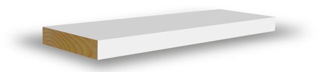Glattkantlist 15x69x4400 mm hvitmalt furu Glattkantlist hvitmalt furu, BARKEVIK BRUK AS Combiwood Barkevik AS