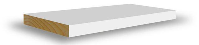 Glattkantlist 21x145x4400 mm hvitmalt furu Glattkantlist hvitmalt furu, BARKEVIK BRUK AS Combiwood Barkevik AS