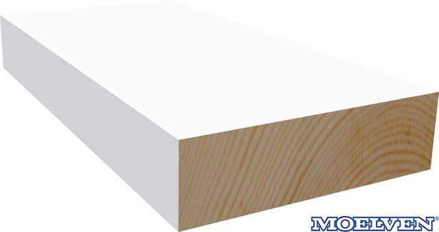 Glattkantlist 15x145 mm hvitmalt furu Moelven glattkantlist hvitmalt furu Moelven Wood AS