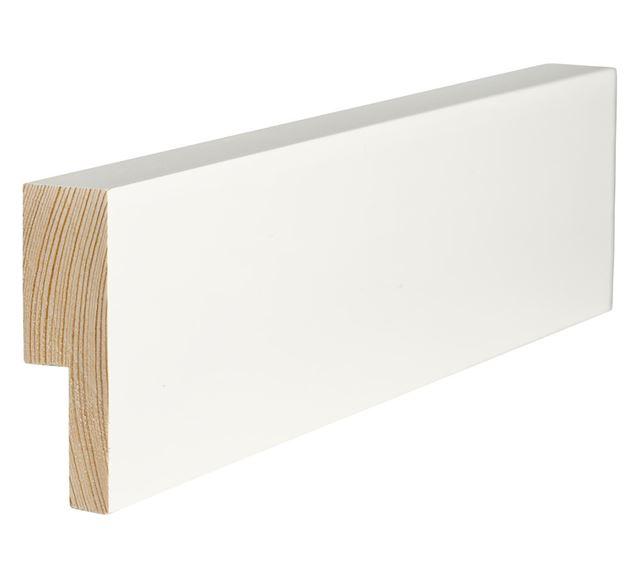 Utforing Opus 18x70x2400 mm hvitmalt furu Utforingsett laminert behandlet faste lengder 7285595