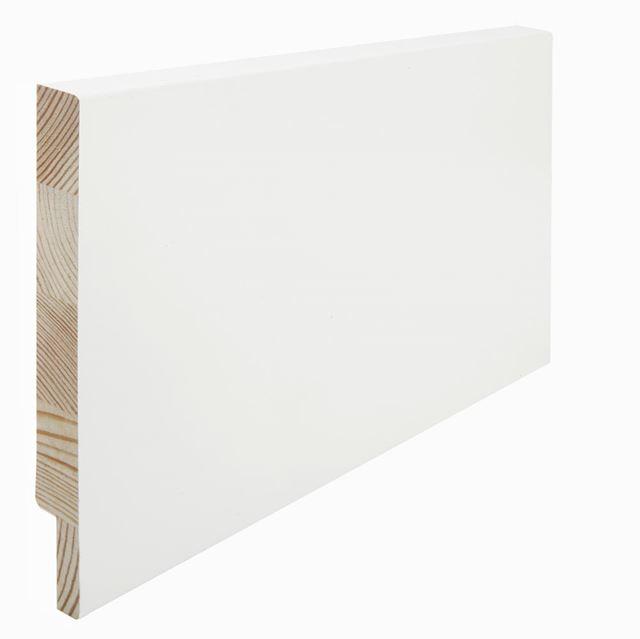 Utforing Opus 18x195x2400 mm hvitmalt furu Utforingsett laminert behandlet faste lengder 7285603