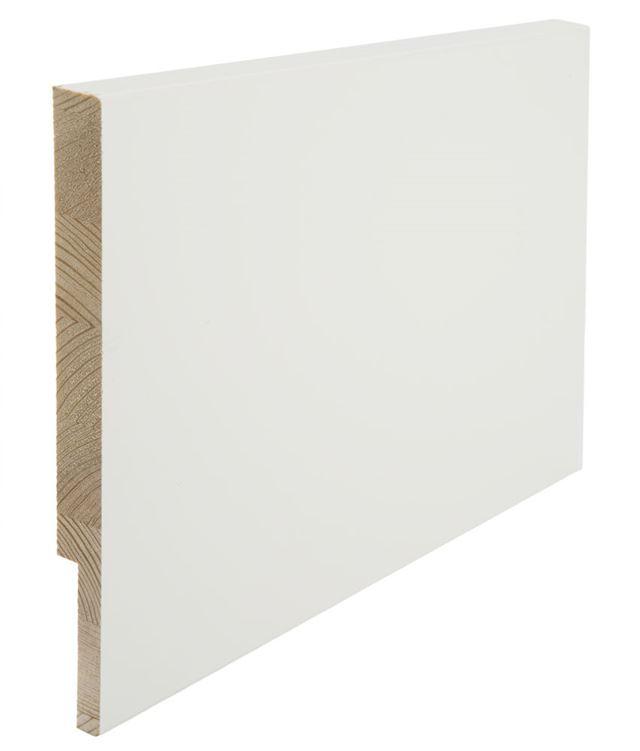 Utforing Opus 18x220x4400 mm hvitmalt furu Utforingsett laminert behandlet faste lengder 7285606