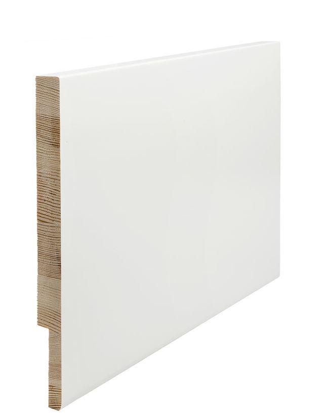 Utforing Opus 18x250x2400 mm hvitmalt furu Utforingsett laminert behandlet faste lengder 7285607