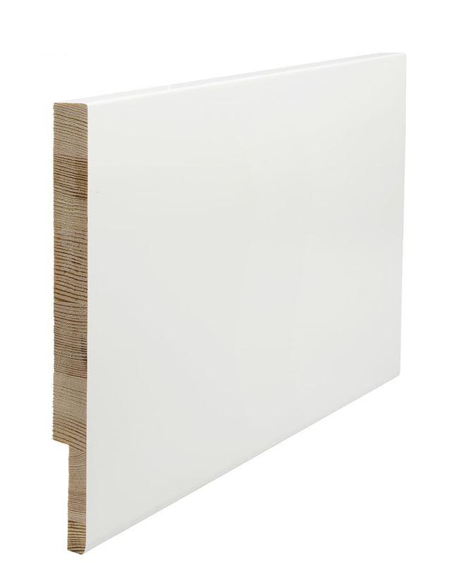 Utforing Opus 18x300x2400 mm hvitmalt furu Utforingsett laminert behandlet faste lengder 7285608