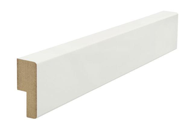 Utforing dørsett MDF 18x34x2100 mm hvitmalt  Utforing MDF hvitmalt faste lengder 7285631
