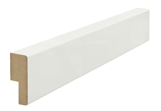 Utforing MDF 18x45x2100 mm hvitmalt furu Opus Utforing MDF hvitmalt faste lengder 7285632