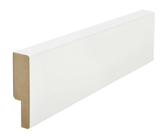 Utforing dørsett MDF 18x70x2100 mm hvitmalt Utforing MDF hvitmalt faste lengder 7285634