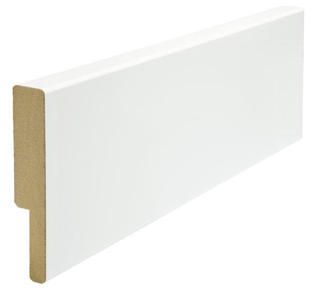 Utforing dørsett MDF 18x95x2100 mm hvitmalt Utforing MDF hvitmalt faste lengder 7285635