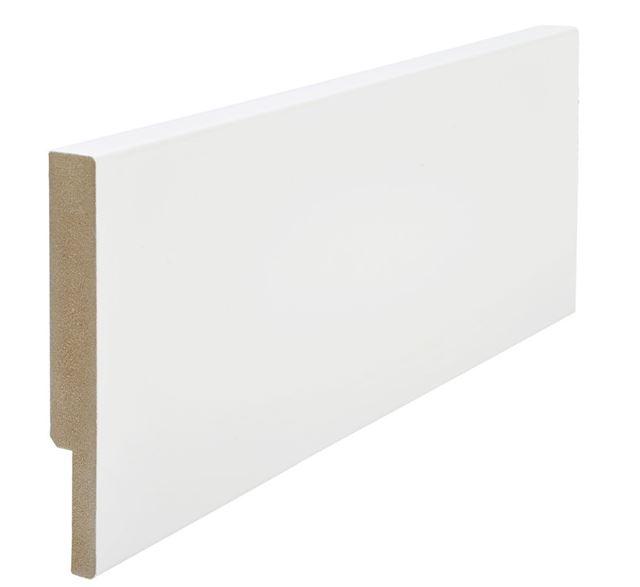 Utforing dørsett MDF 18x120x2100 mm hvitmalt Utforing MDF hvitmalt faste lengder 7285636