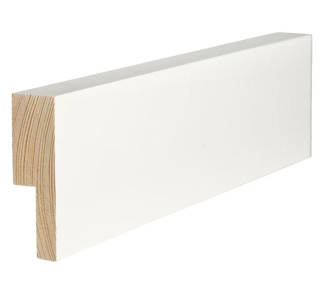 Utforing Opus 18x70x4400 mm hvitmalt furu Utforingsett laminert behandlet faste lengder 7301772