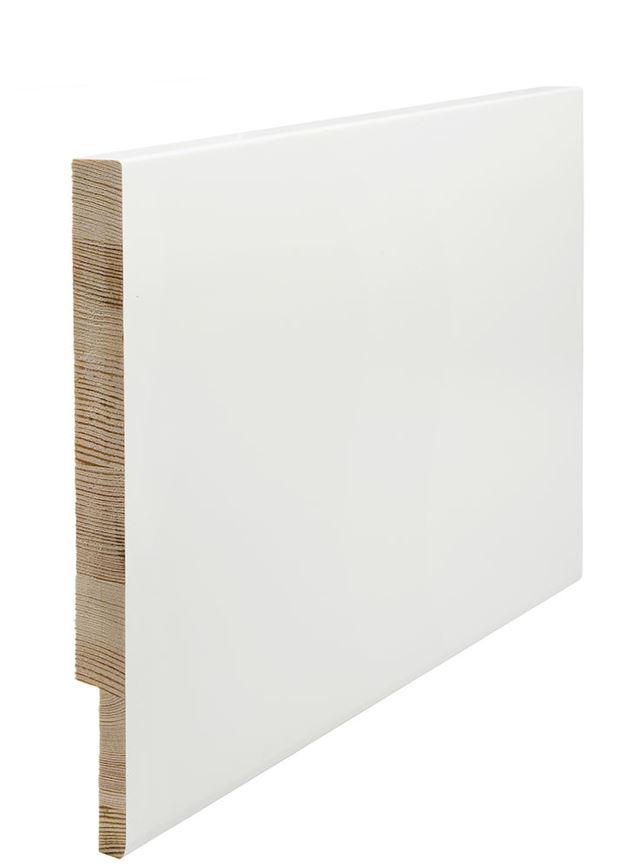 Utforing Opus 18x250x4400 mm hvitmalt furu Utforingsett laminert behandlet faste lengder 7328073