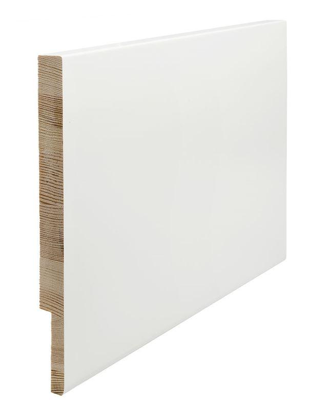 Utforing Opus 18x300x4400 mm hvitmalt furu Utforingsett laminert behandlet faste lengder 7328074