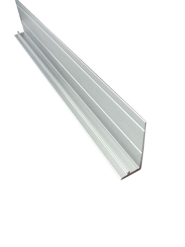Fibo sokkellist rettkant aluminium 2400 mm Sokkellist rettkant aluminium, FIBO AS